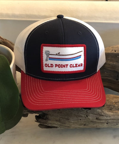 Old Point Clear - Structured Hat With Red Bill Snapback