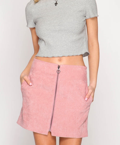 She + Sky - SL6750 - Corduroy Mini Skirt