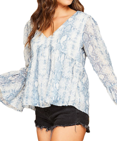 Bite Back Snake Print Top