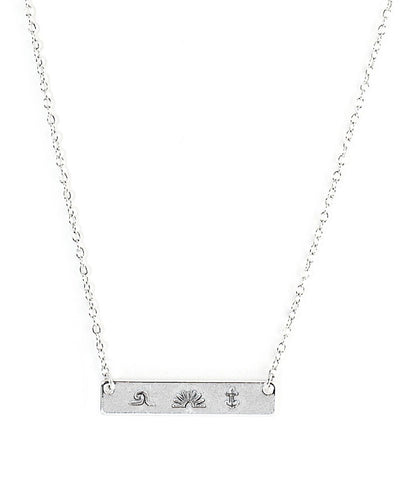 Pura Vida - Stamped Bar Necklace