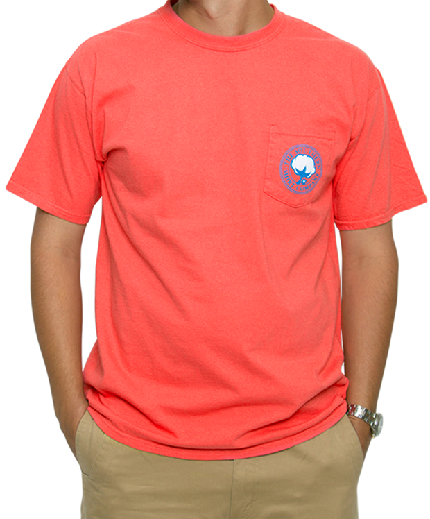 Southern Shirt Co. - Nautical Rope Short Sleeve Tee - Sugar Coral Front