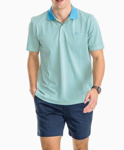 Southern Tide - Fort Frederik Stripe Perf Pique Polo