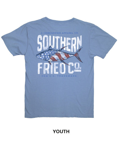 Southern Fried Cotton - Youth Red White & Tuna Tee
