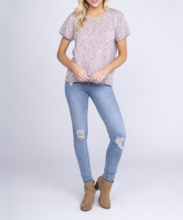 Southern Shirt Co - Knitted Boxy Sweater Tee