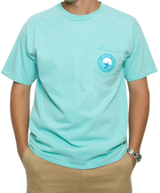 Southern Shirt Co. - Nautical Rope Short Sleeve Tee - Chalky Mint Front