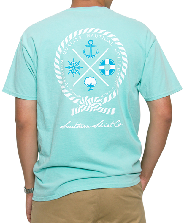 Southern Shirt Co. - Nautical Rope Short Sleeve Tee - Chalky Mint