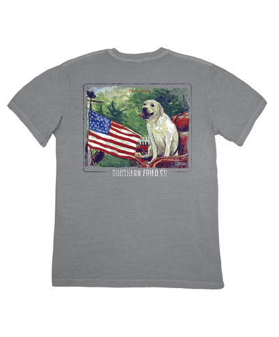 Southern Fried Cotton - Waggin' Flag Tee