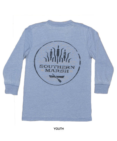 Southern Marsh - Youth Seawash Long Sleeve Tee - Paddle
