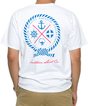 Southern Shirt Co. - Nautical Rope Short Sleeve Tee - White