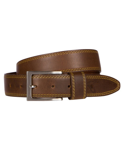 GenTeal - Leather Belt - Silver Buckle