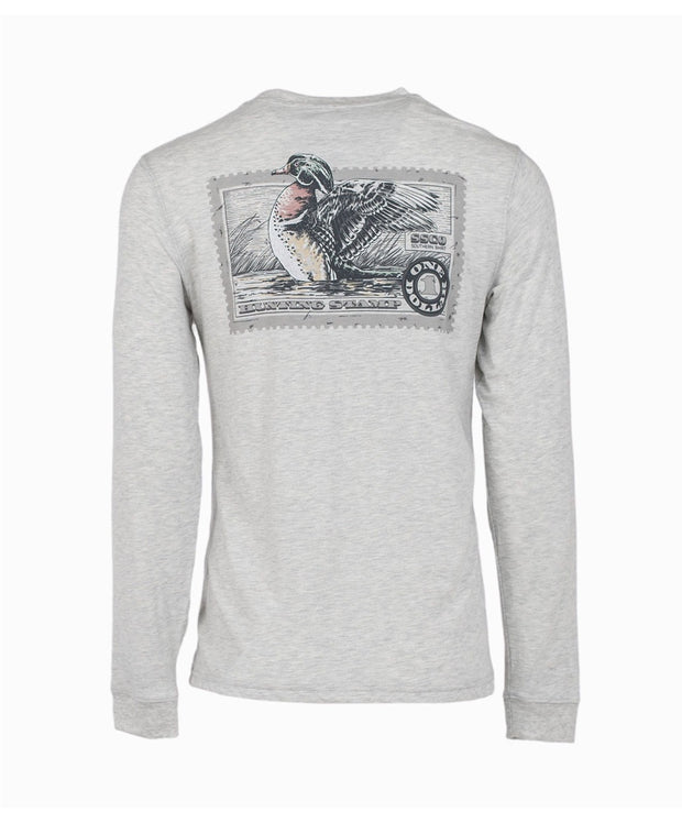 Southern Shirt Co - Wood Duck Stamp Long Sleeve Tee
