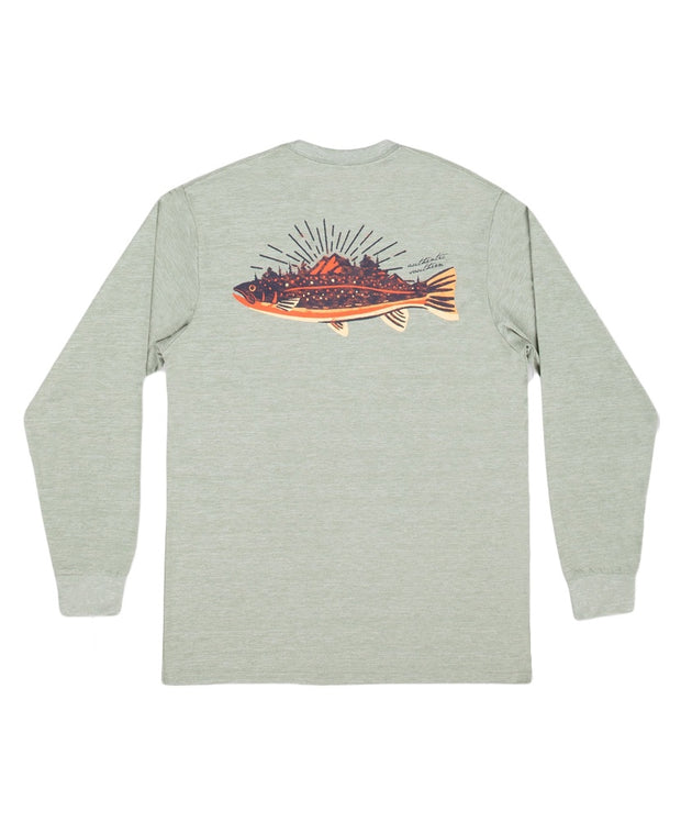 Southern Marsh - FieldTec Heathered Performance LS Tee - Speckled Sunset