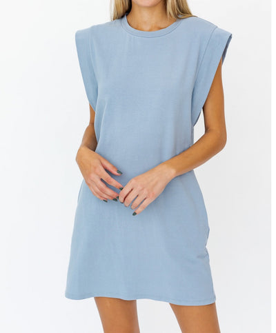 Take It Easy Muscle Tee Dress