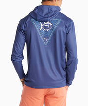 Southern Tide - Skipjack Waves Performance Hoodie Tee