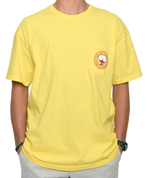 Southern Shirt Co. - Wax Seal Short Sleeve Tee - Canary Front