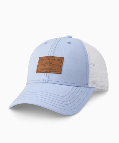 Southern Tide - Leather Patch Oxford Trucker Hat