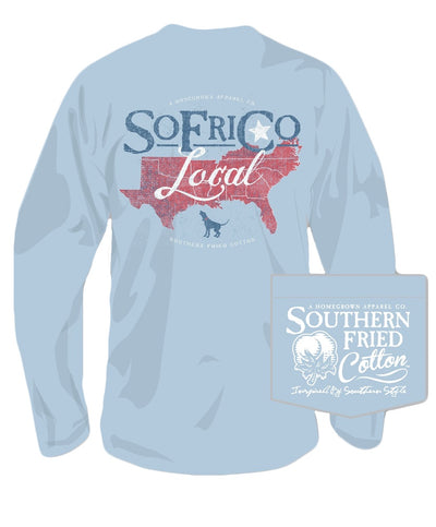 Southern Fried Cotton - Local Southerner Long Sleeve Tee