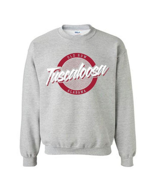 Old Row - Tuscaloosa, Alabama Circle Logo Crewneck Sweatshirt
