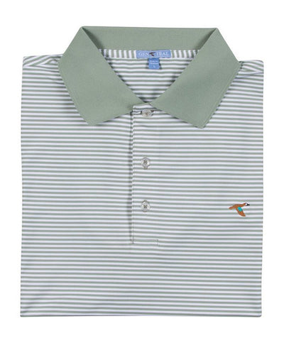 GenTeal - Stripe Performance Polo
