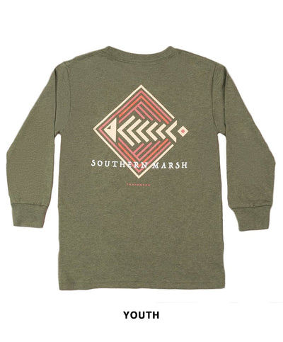 Southern Marsh - Youth Aztec Catch Long Sleeve Tee