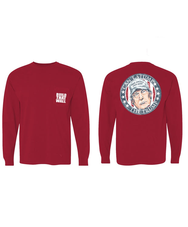 Old Row - Can't Stump the Trump Long Sleeve Pocket Tee