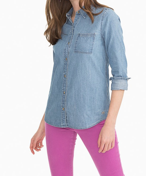 Southern Tide - Emery Button Front Chambray Shirt