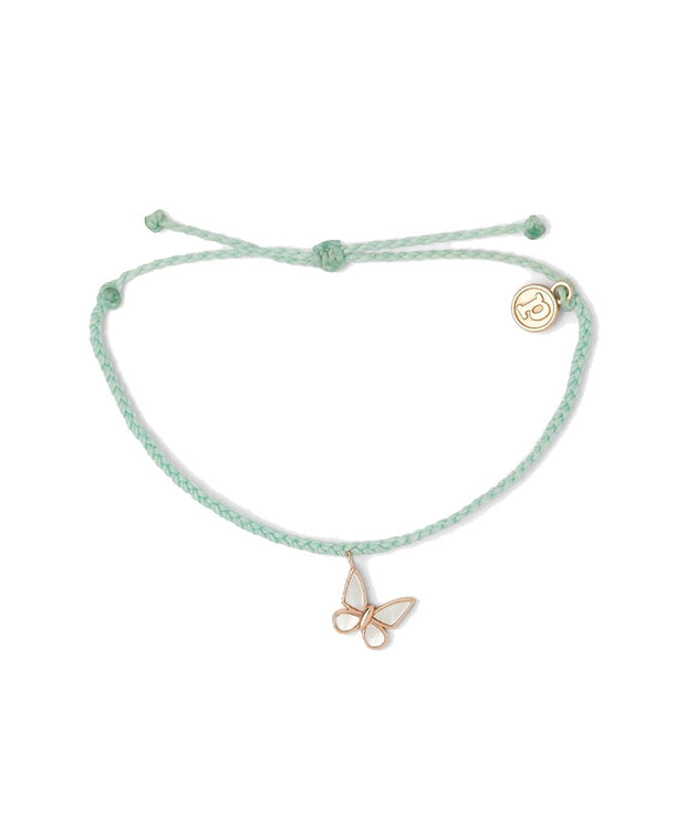 Pura Vida - Butterfly Charity Bracelet - Rose Gold