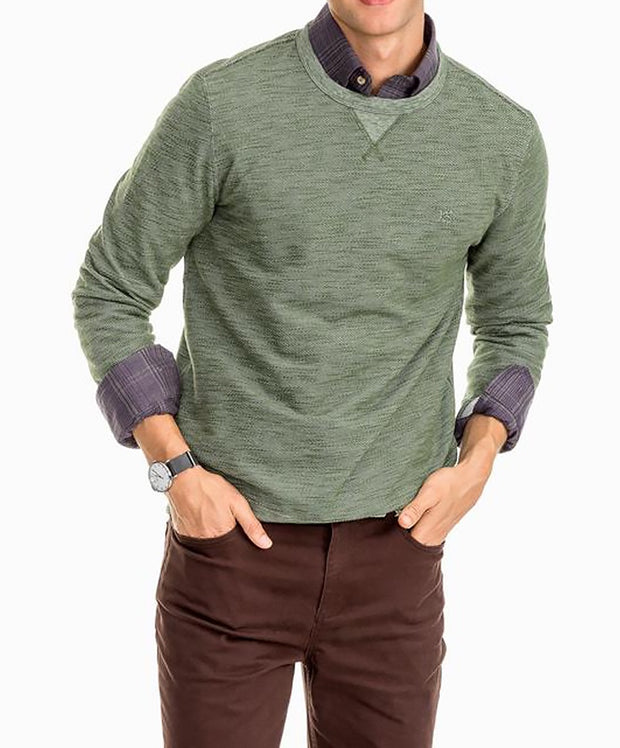 Southern Tide - Long Sleeve Upper Deck Twill Crew Neck
