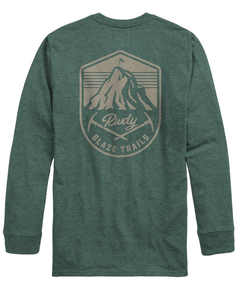 Rowdy Gentleman - Blaze Trails Long Sleeve Pocket Tee