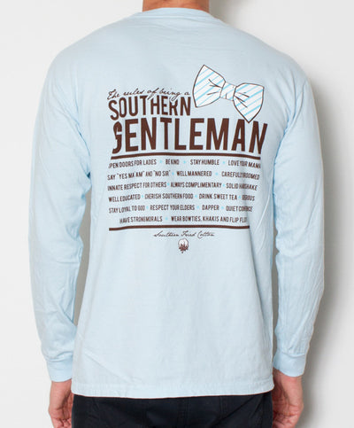 Southern Fried Cotton - Southern Gentleman Long Sleeve - Chambray Back