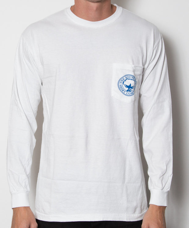 Southern Shirt Co. - Nautical Rope Long Sleeve - White Front