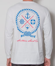 Southern Shirt Co. - Nautical Rope Long Sleeve - White