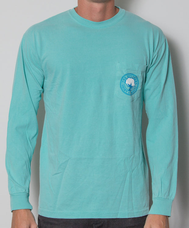 Southern Shirt Co. - Nautical Rope Long Sleeve - Chalky Mint Front