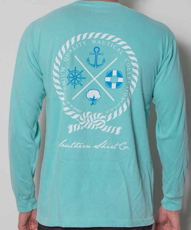 Southern Shirt Co. - Nautical Rope Long Sleeve - Chalky Mint