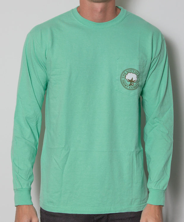 Southern Shirt Co. - Retriever Long Sleeve - Pesto Front