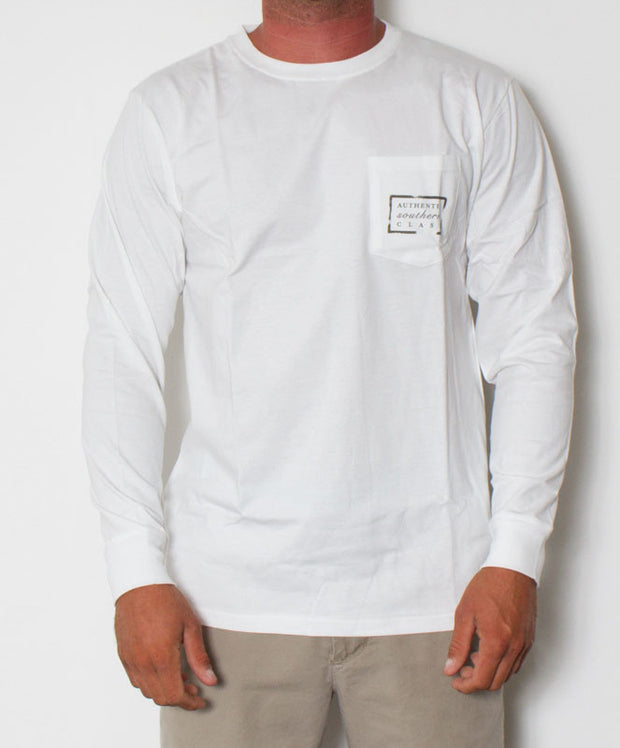 Southern Marsh - Authentic Long Sleeve White Front