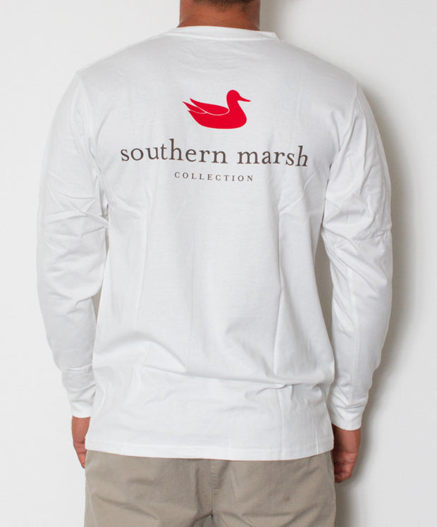 Southern Marsh - Authentic Long Sleeve White Back