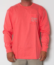 Southern Marsh - Authentic Long Sleeve Coral Front
