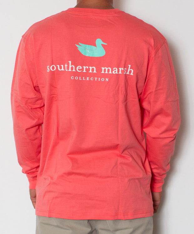 Southern Marsh - Authentic Long Sleeve Coral Back