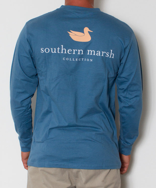 Southern Marsh - Authentic Long Sleeve Slate Back
