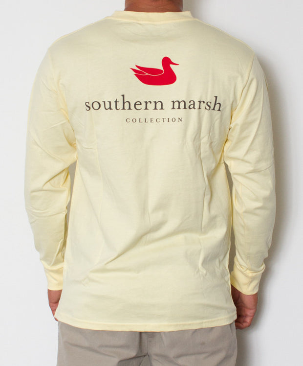 Southern Marsh - Authentic Long Sleeve Yellow Back