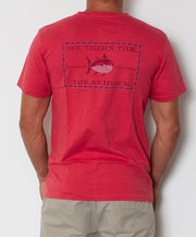 Southern Tide - Vintage Skipjack T-Shirt Antifouling Red Back