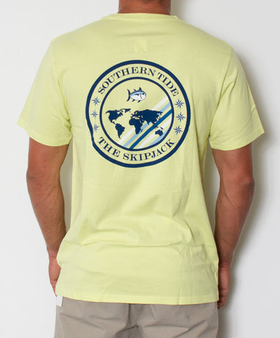 Southern Tide - Skipjack World T-Shirt Tropical Lime Back