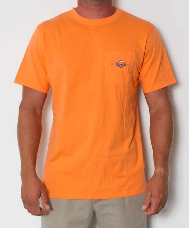 Southern Tide - Skipjack World T-Shirt Nectarine Front