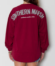 Southern Marsh - Rebecca Jersey Maroon/Black Back