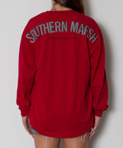 Southern Marsh - Rebecca Jersey Crimson/Houndstooth Back
