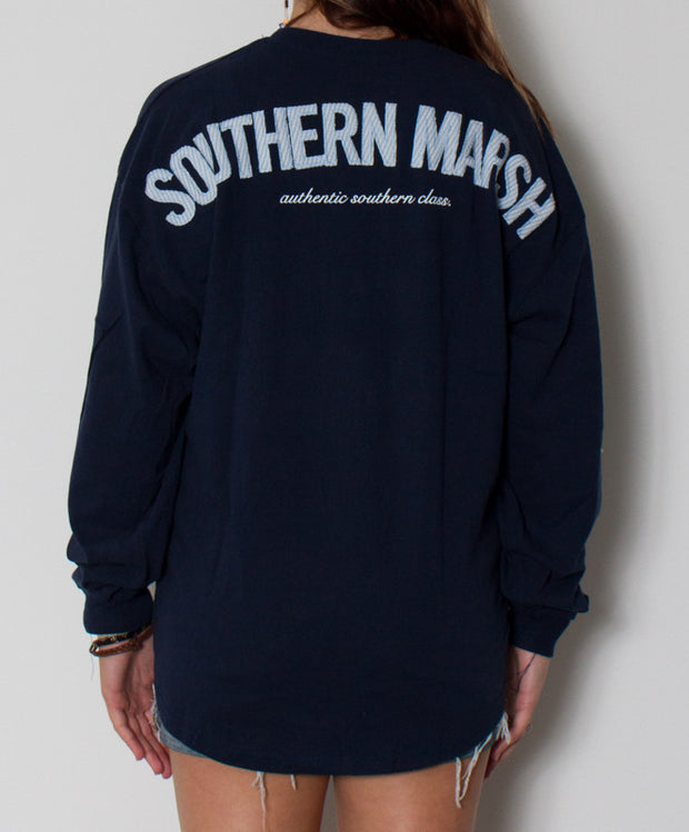 Southern Marsh - Rebecca Jersey Navy/Blue Back