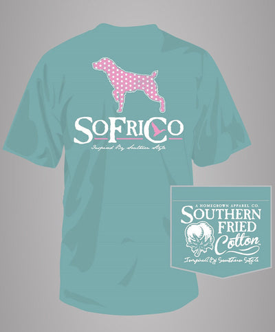 Southern Fried Cotton - Polka Pointer Pocket T-Shirt - Seafoam