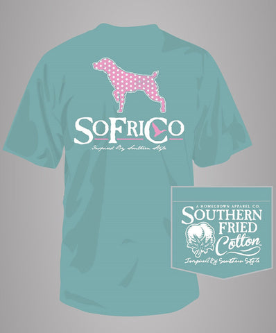 Southern Fried Cotton - Polka Pointer Pocket Tee