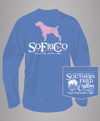 Southern Fried Cotton - Polka Pointer Long Sleeve